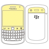 Martin Fields Protector de ecrã p/Blackberry Bold 9900 (1 Unidade)