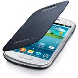 Samsung Flip Case c/tampa de bateria p/ Galaxy S III mini (Azul)