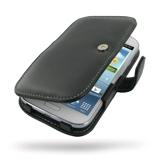 PDair Bolsa em couro para Samsung Galaxy Grand Duos (Tipo livro, Preto)