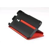 HTC One mini Estojo com batente e suporte HC V851 (Preto com forro vermelho)