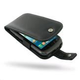 PDair Bolsa em couro para Samsung Galaxy Xcover 2 (Tipo livro vertical, Preto)