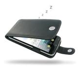 PDair Bolsa em couro para Acer Liquid S2 (Abertura na vertical, Preto)