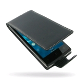 PDair Deluxe Leather Case for Acer Liquid E3 (Flip Type, Black)