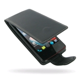 PDair Deluxe Leather Case for Acer Liquid Z4 (Flip Type, Black)